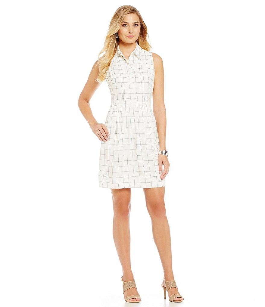 Cremieux Brooke Plaid Shirt Dress