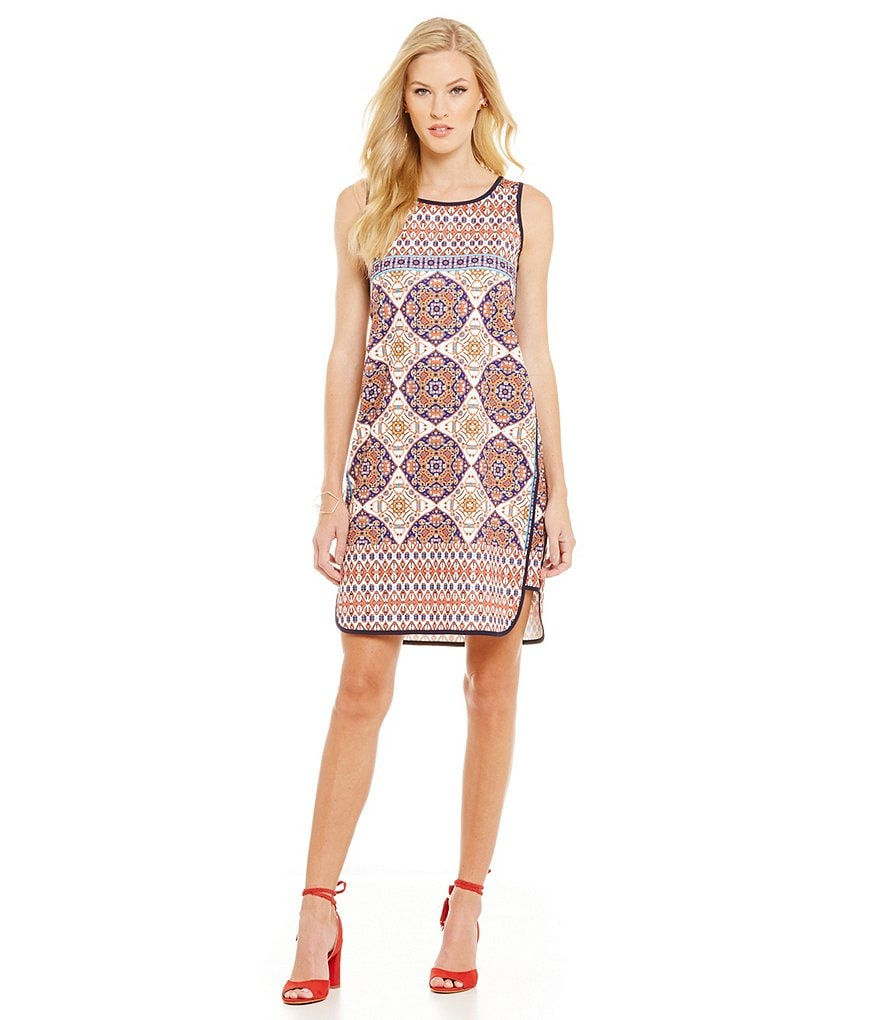 Cremieux Joyce Sleeveless Printed Knit Dress