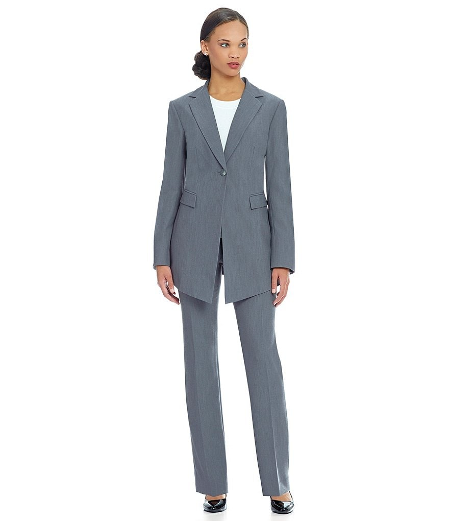 John Meyer Long-Sleeve Solid Pant Suit