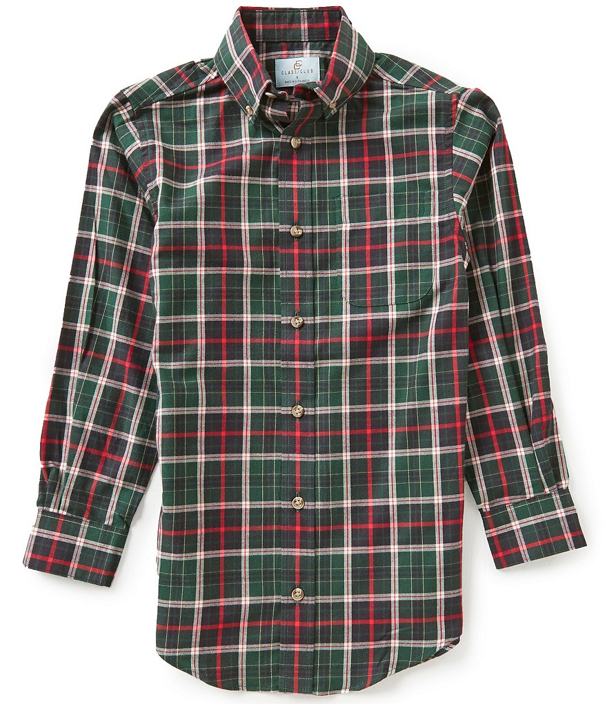 Class Club Big Boys 8-20 Plaid Twill Sportshirt
