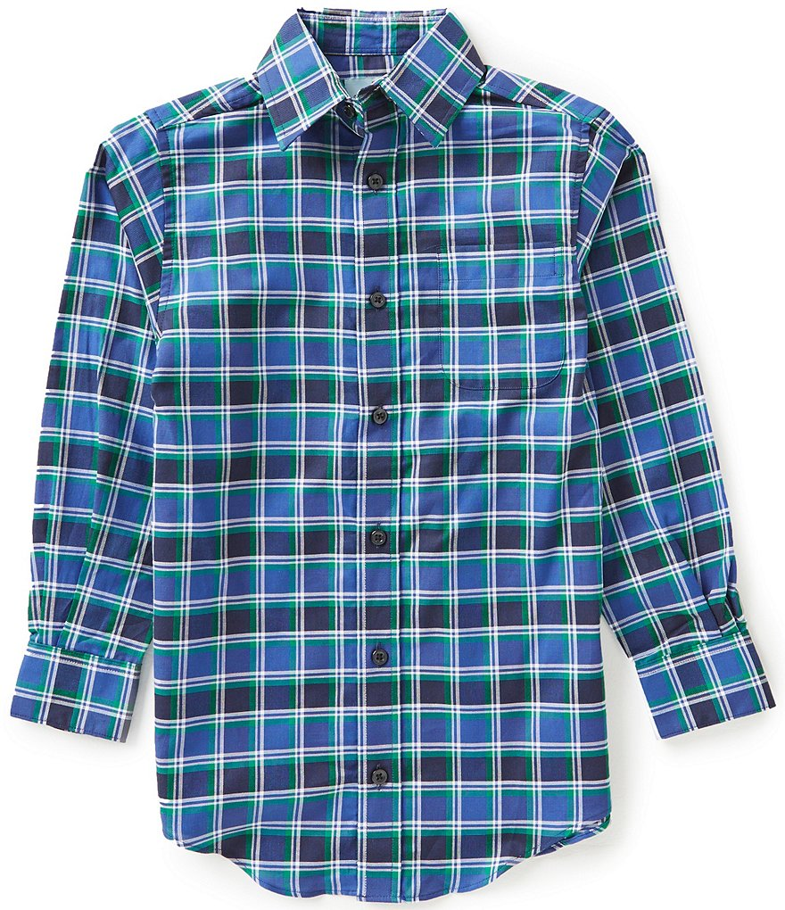 Class Club Big Boys 8-20 Plaid Button-Front Shirt