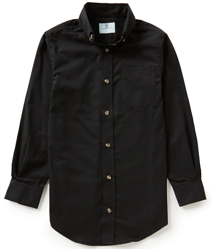Class Club Big Boys 8-20 Solid Twill Shirt