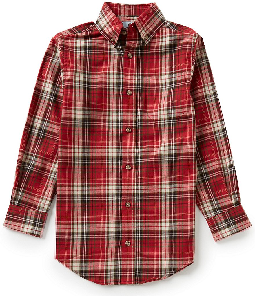 Class Club Big Boys 8-20 Plaid Shirt