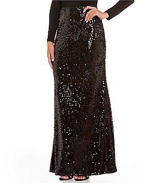Adrianna Papell Sequin Mermaid Skirt