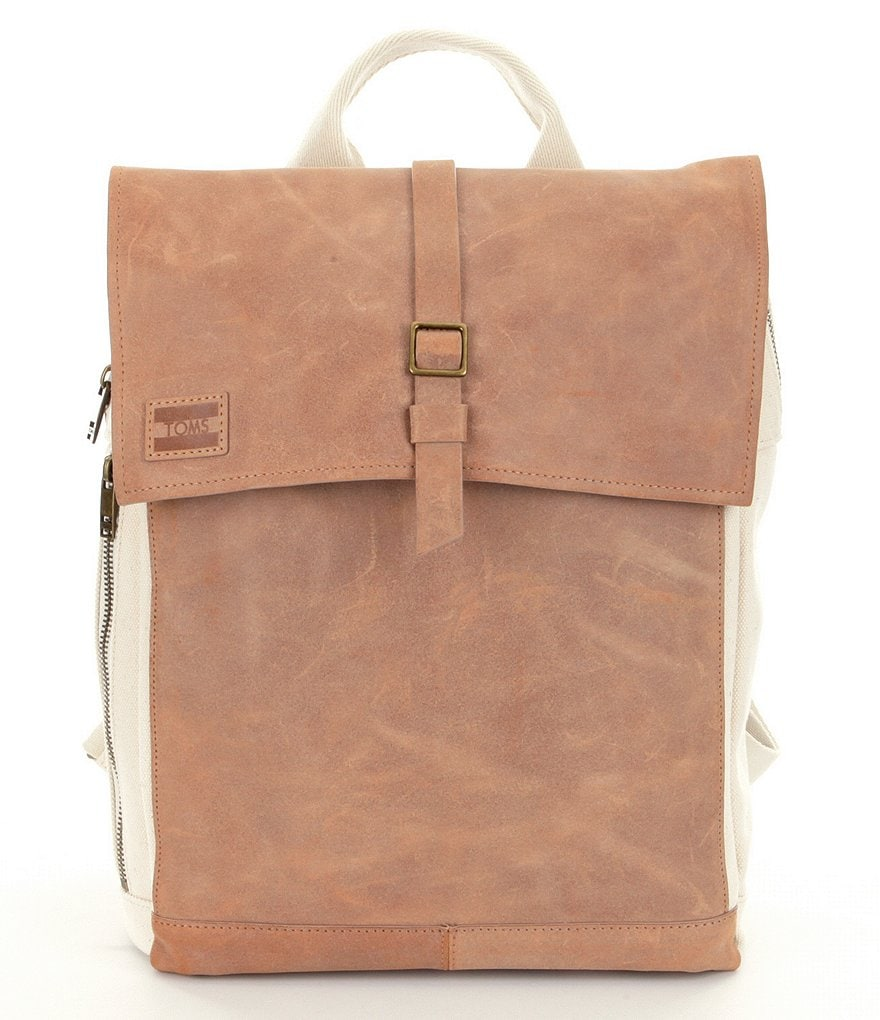 TOMS Trekker Natural Canvas & Leather Backpack