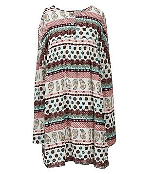 People´s Project LA Big Girls 7-16 Hazel Mixed-Print Crepon Dress