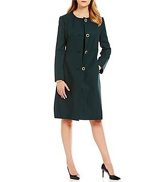 John Meyer Solid 2-Piece Jacket Dress