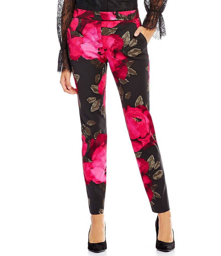 Trina Turk Aubree Ankle Length Skinny Fit Floral Pants