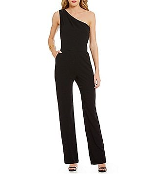 Trina Turk Haughty One-Shoulder Full-Length Solid Jumpsuit