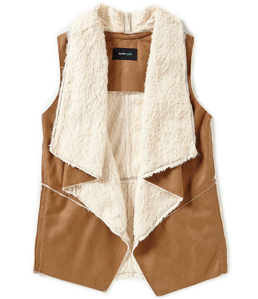 Takara Big Girls 7-16 Faux-Fur Shearling Vest