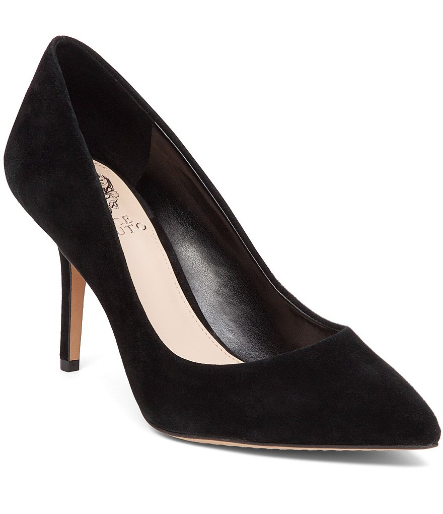 Vince Camuto Salest Suede Slip-On Pointed Toe Pumps