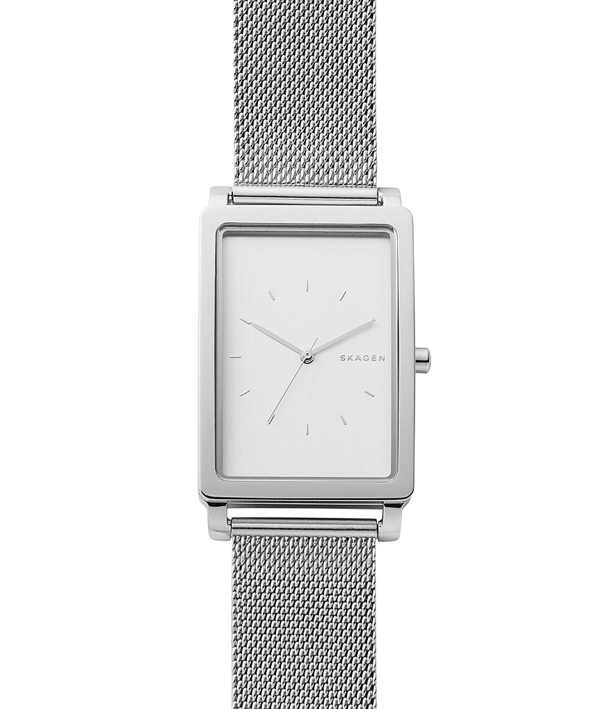 Skagen Hagen Rectangular Analog Mesh Bracelet Watch