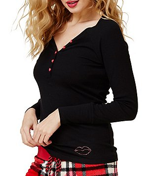 Betsey Johnson Ribbed Sleep Top