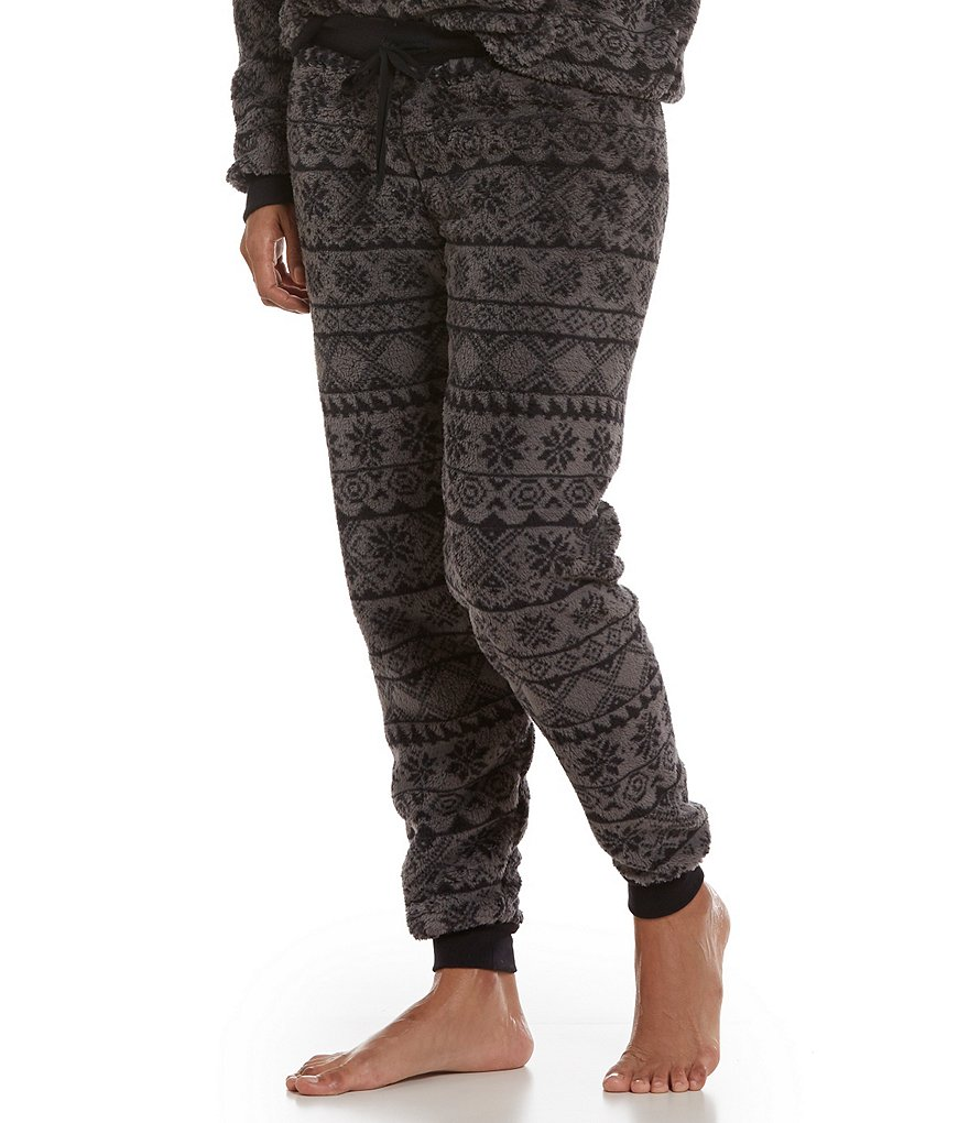 PJ Salvage Fair Isle Microfiber Lounge Pants