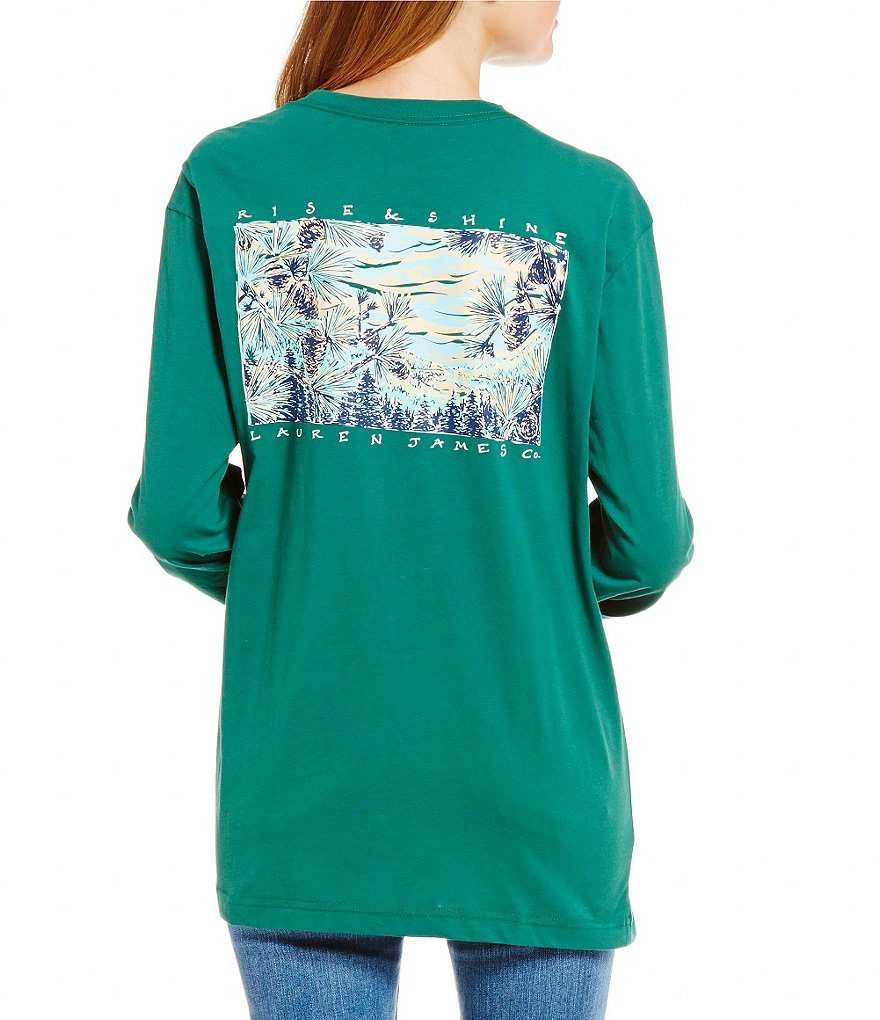 Lauren James Rise and Shine Long-Sleeve Graphic Tee