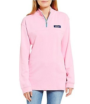Lauren James Whitacre Quarter-Zip Mock Neck Pullover Sweater