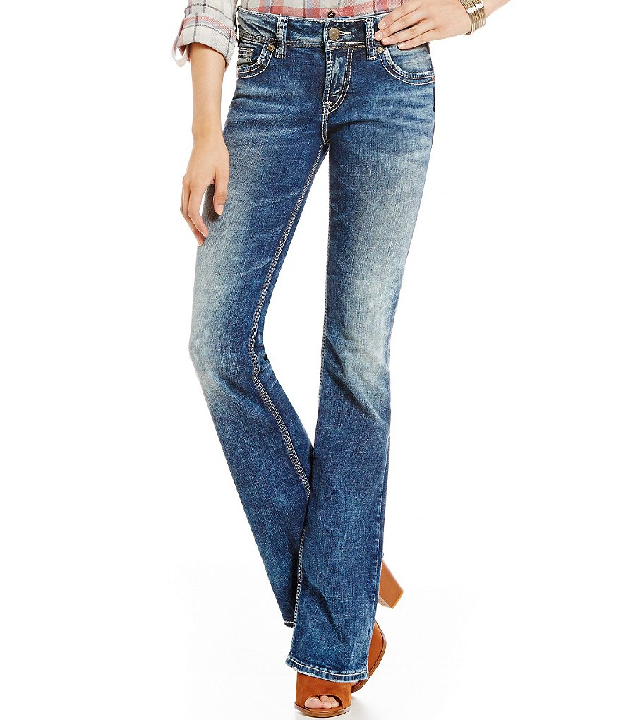 Silver Jeans Co. Suki Embroidered Bootcut Jeans