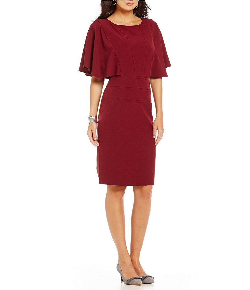 Alex Marie Then And Now Joanna Round Neck Ruffle Dress