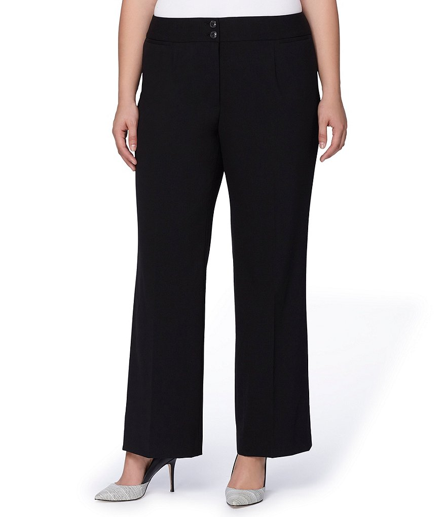Tahari ASL Plus Straight Leg Pants