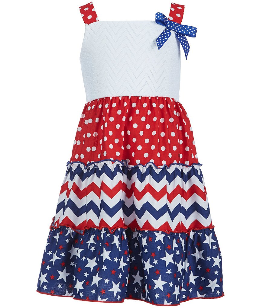 Sweet Heart Rose Little Girls 2T-6X Americana Sleeveless Sundress