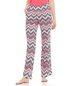 Jane & Bleecker Chevron Slub Jersey Lounge Pants