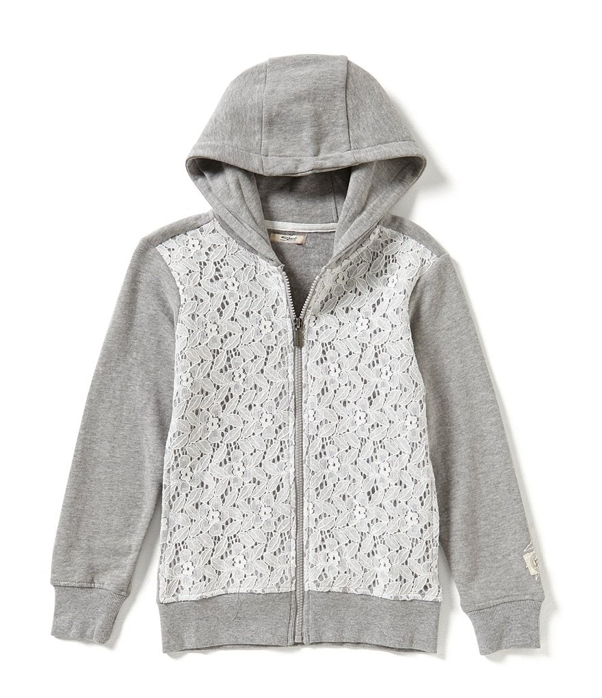 Silver Jeans Co. Big Girls 7-16 Lace Inset Hoodie