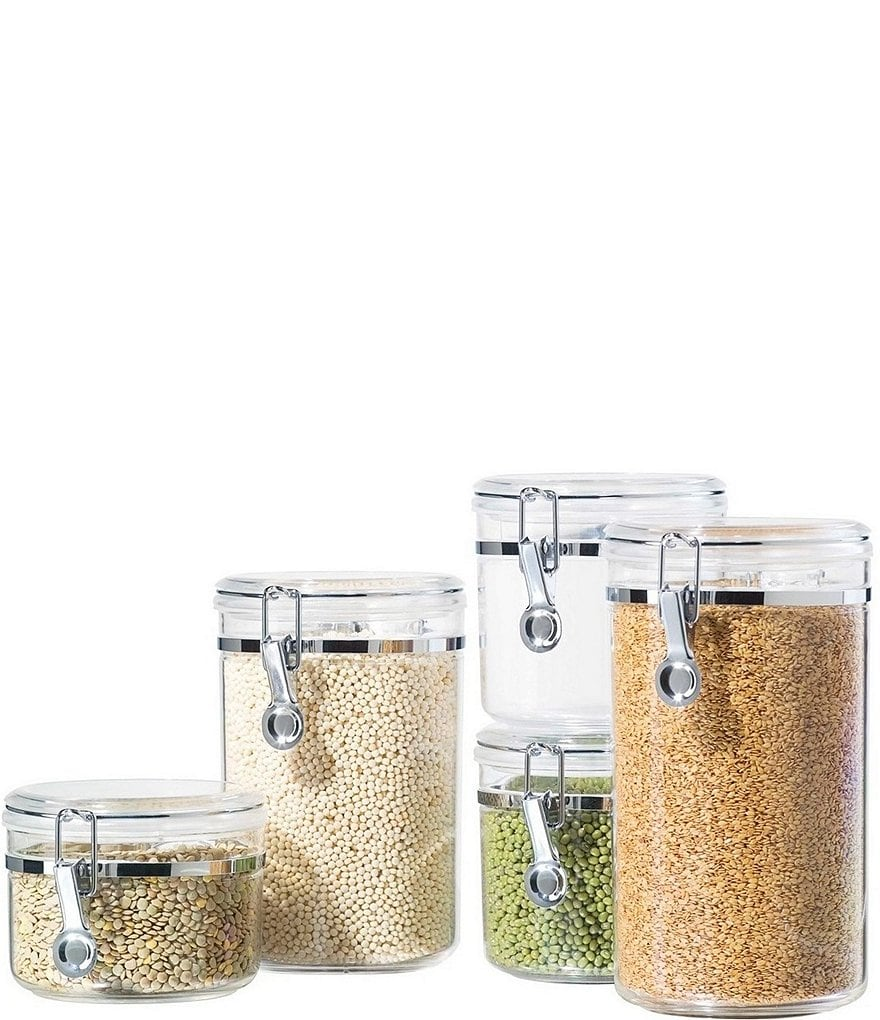 Oggi 5-Piece Airtight Acrylic Canister Set