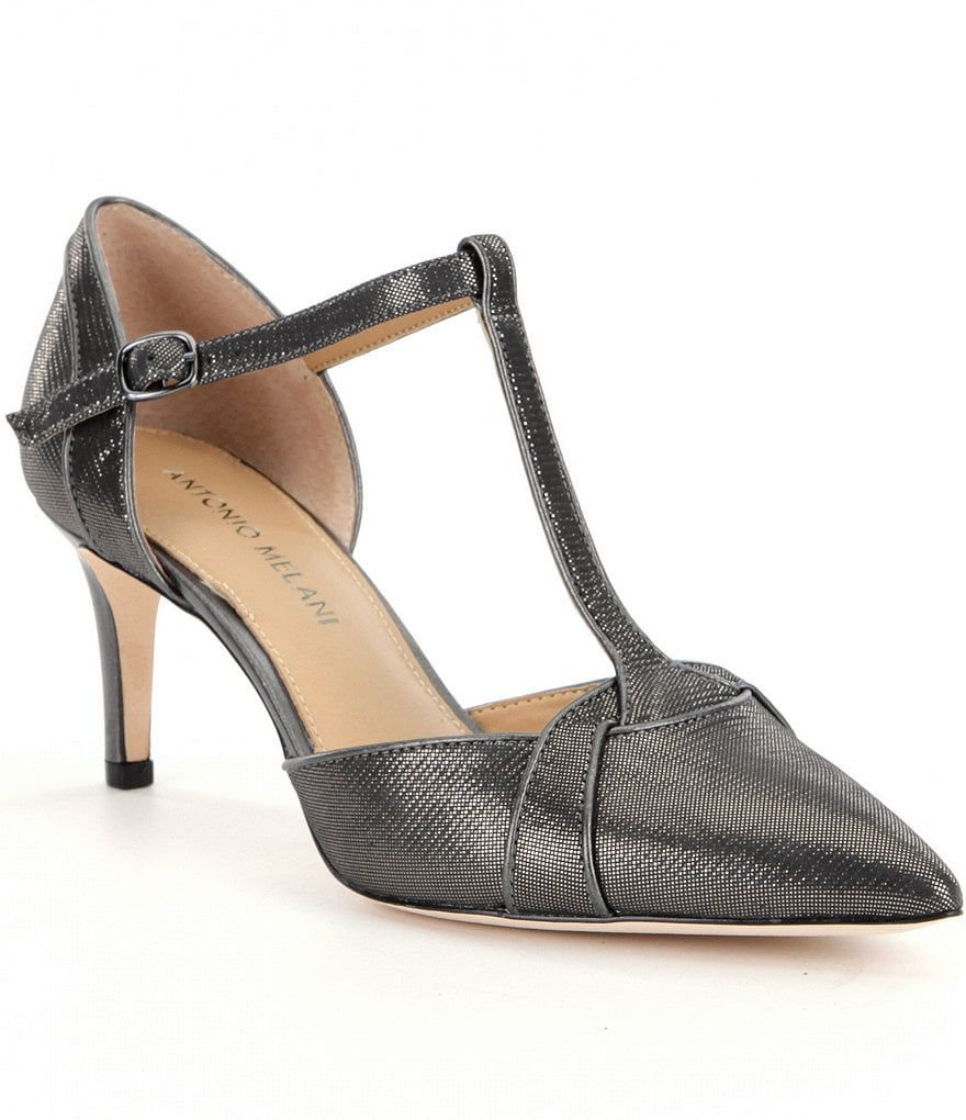 Antonio Melani Ladden T-strap Pointy Toe Pumps