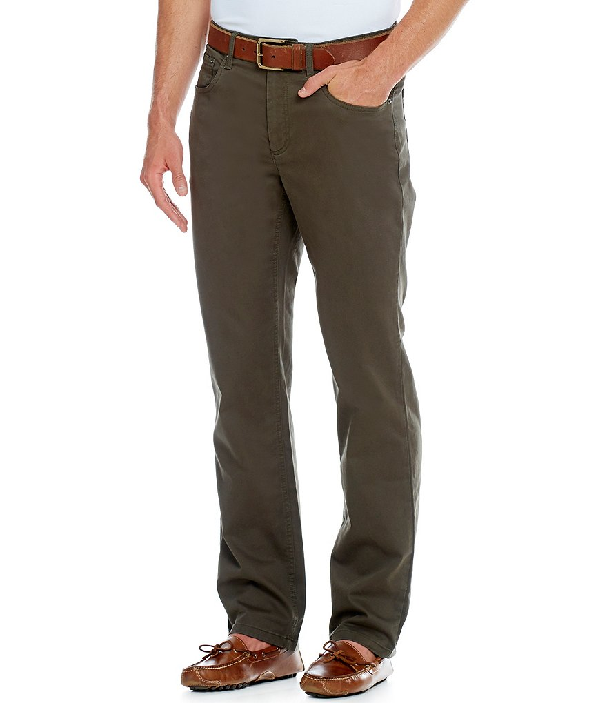 Roundtree & Yorke Big & Tall Straight-Fit 5-Pocket Stretch Canvas Pants