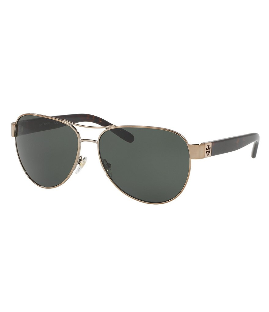 Tory Burch Modern Polarized Aviator Sunglasses