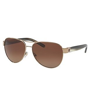 Tory Burch Polarized Gradient Aviator Sunglasses
