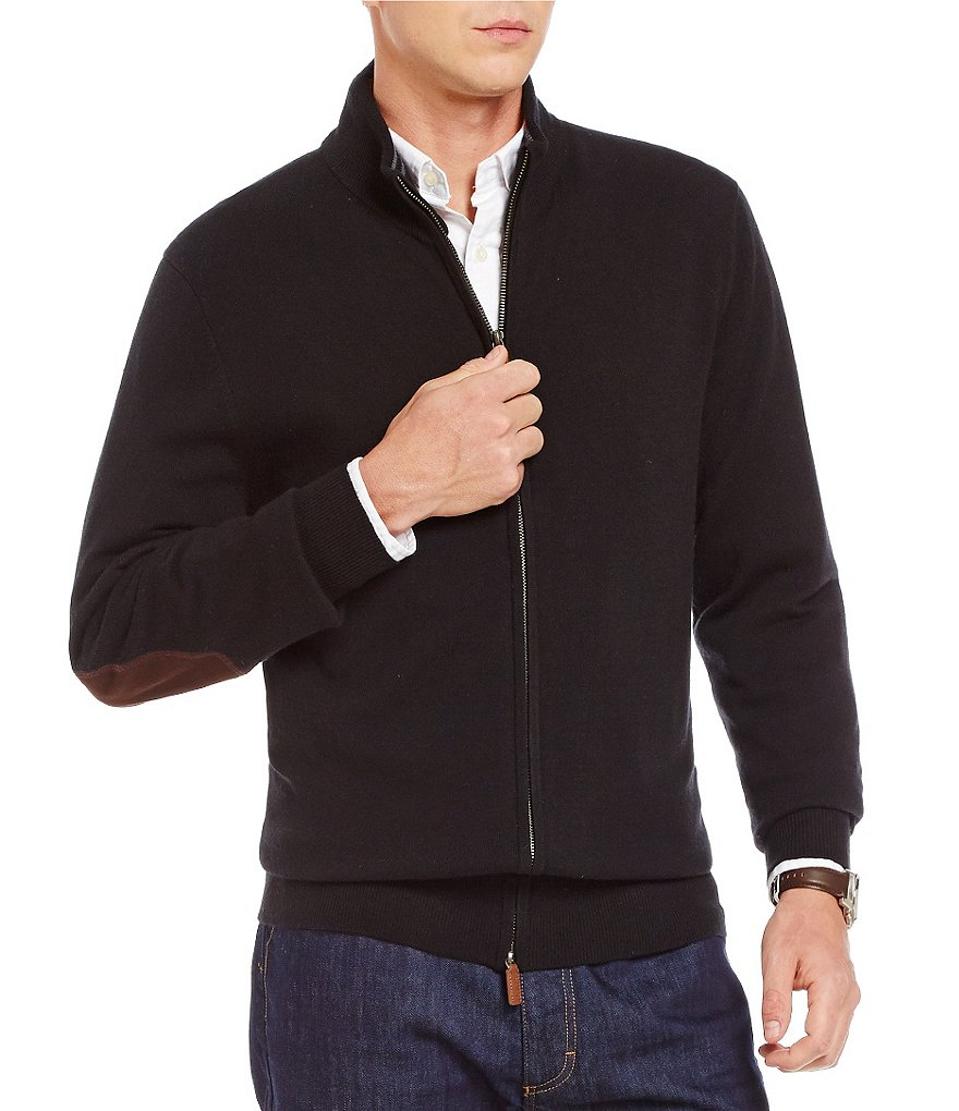 Cremieux Cashmere Full-Zip Long-Sleeve Sweater