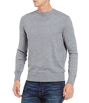 Cremieux Cotton Cashmere Long-Sleeve Crewneck Sweater
