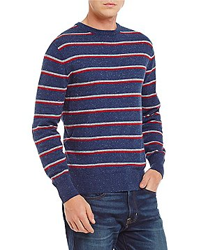 Cremieux Cotton Cashmere Long-Sleeve Stripe Sweater