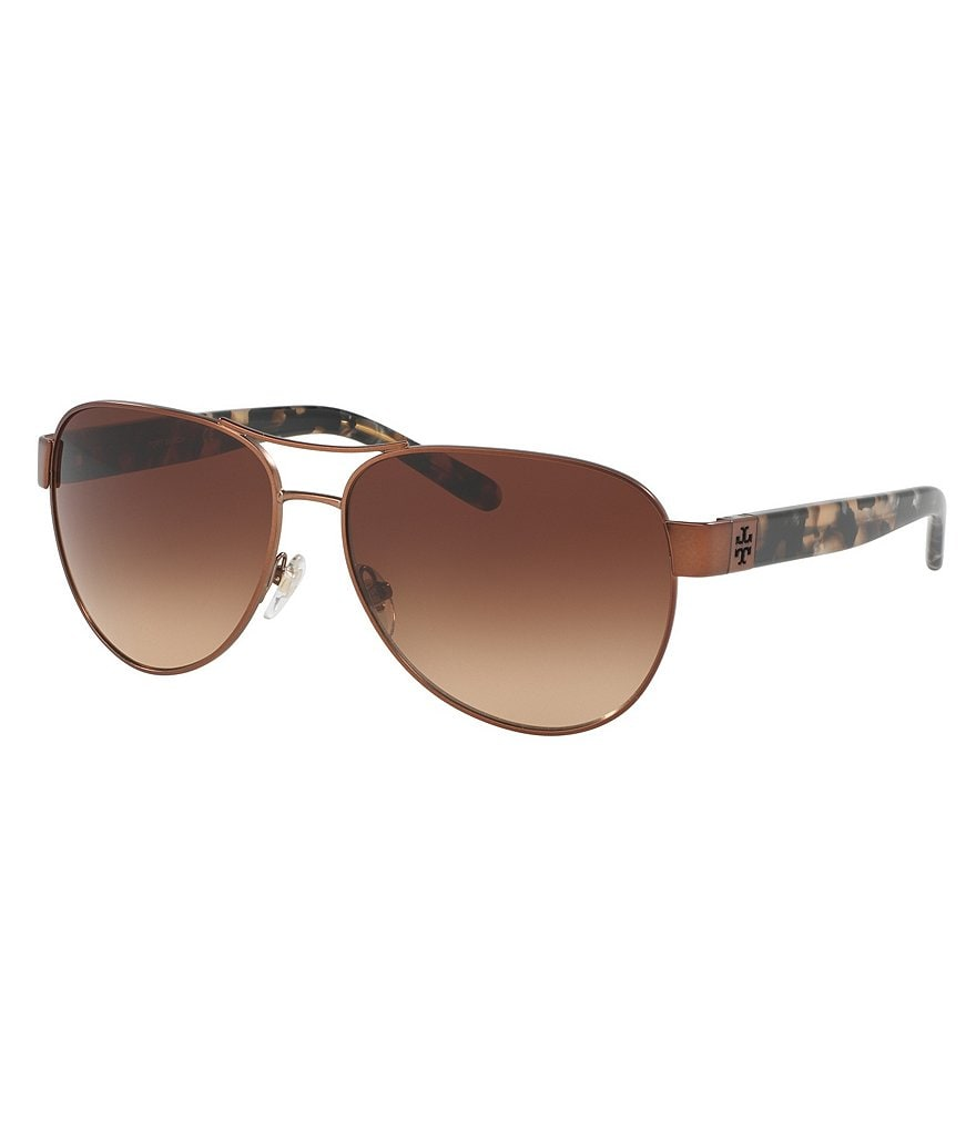 Tory Burch Modern Gradient Aviator Sunglasses