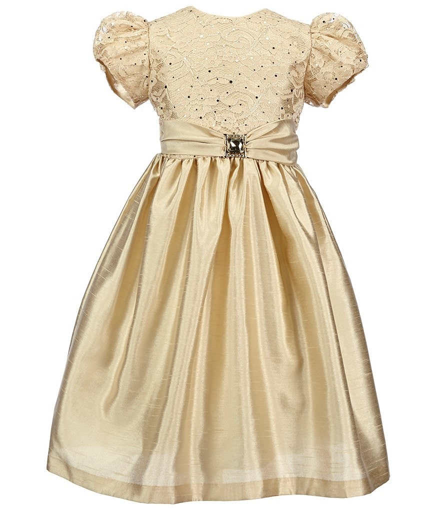 Jayne Copeland Little Girls 2T-6X Lace Satin-Sash Dress