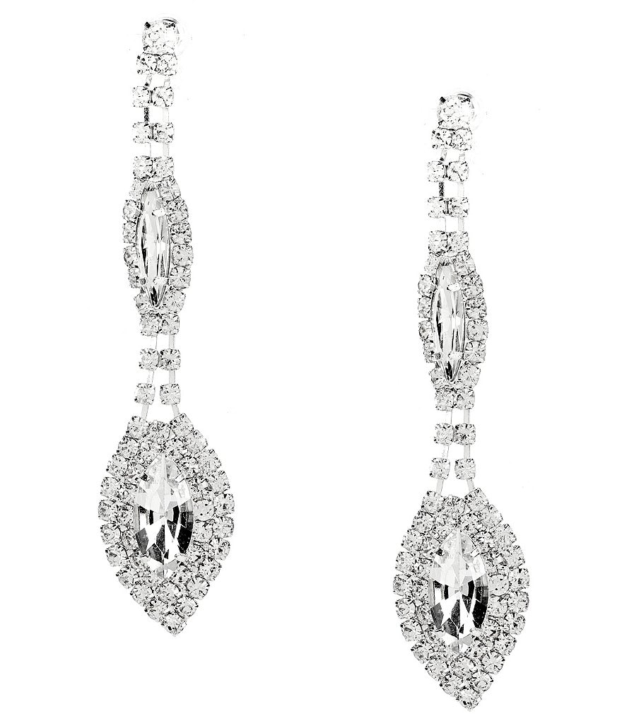 Cezanne Duo Oval Drop Earrings
