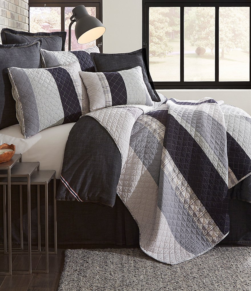 Cremieux Benson Diamond-Embroidered Patchwork Quilt Mini Set