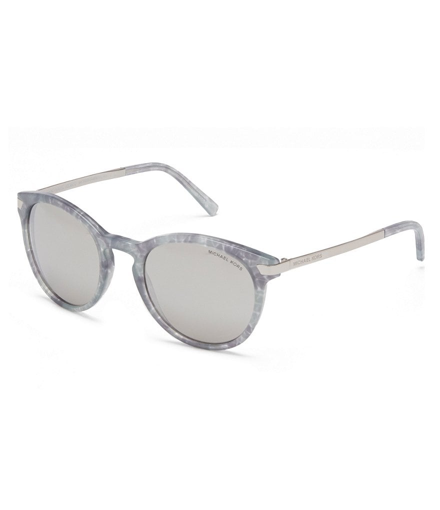 Michael Kors Adrianna III Mirrored Round Sunglasses
