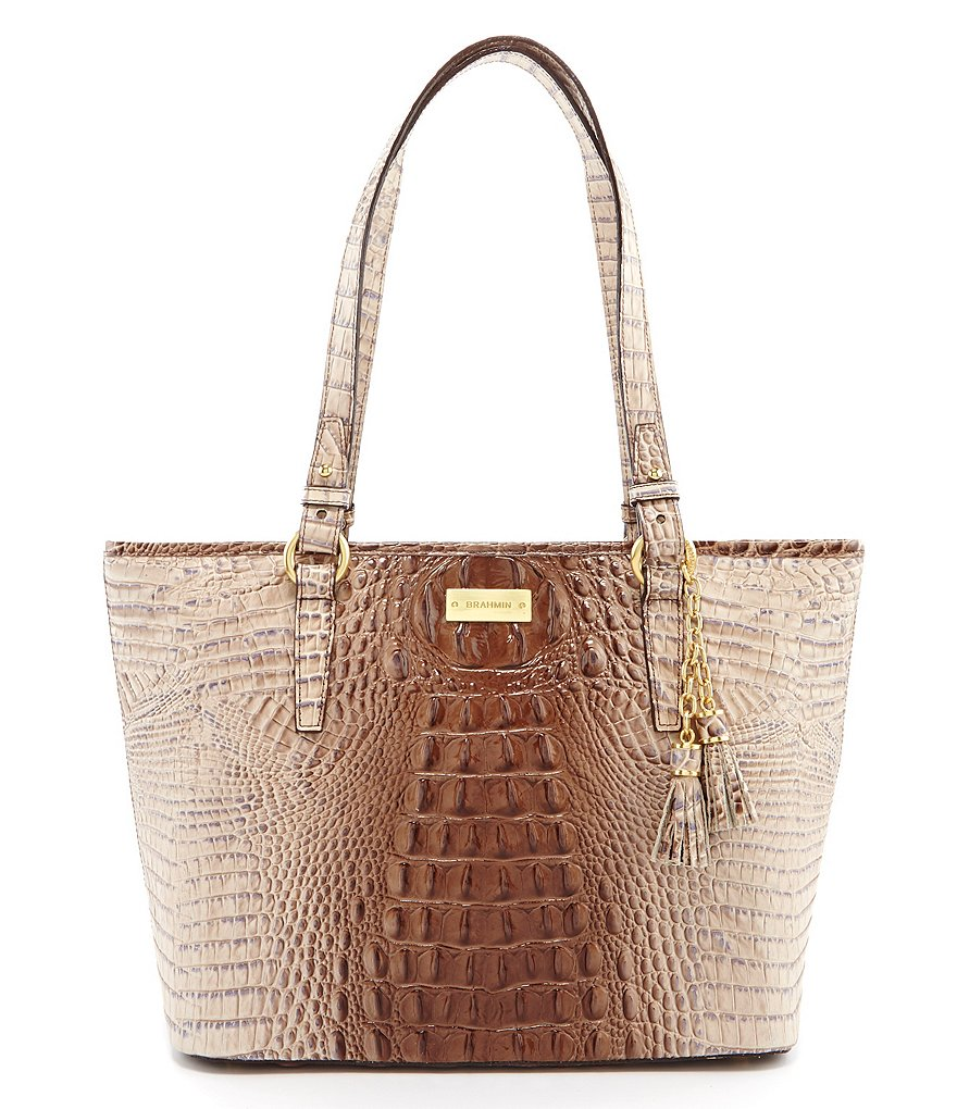 Brahmin Melbourne Collection Medium Asher Croco-Embossed Tote