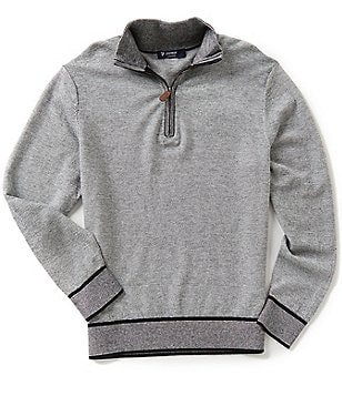 Cremieux Merino Wool Quarter-Zip Long-Sleeve Pullover