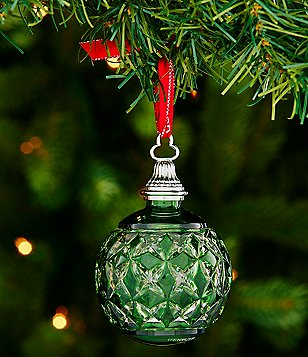 Waterford Crystal 2016 Green Cased Ball Ornament