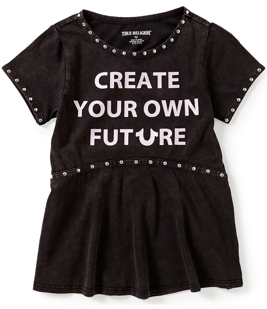 True Religion Big Girls 7-16 Studded Future Tee