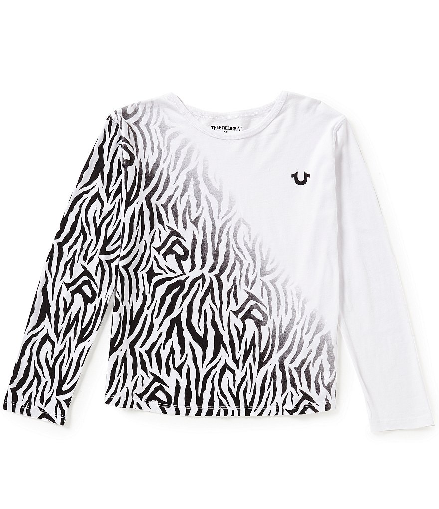 True Religion Big Girls 7-16 Zebra Graphic Print Long-Sleeve Tee