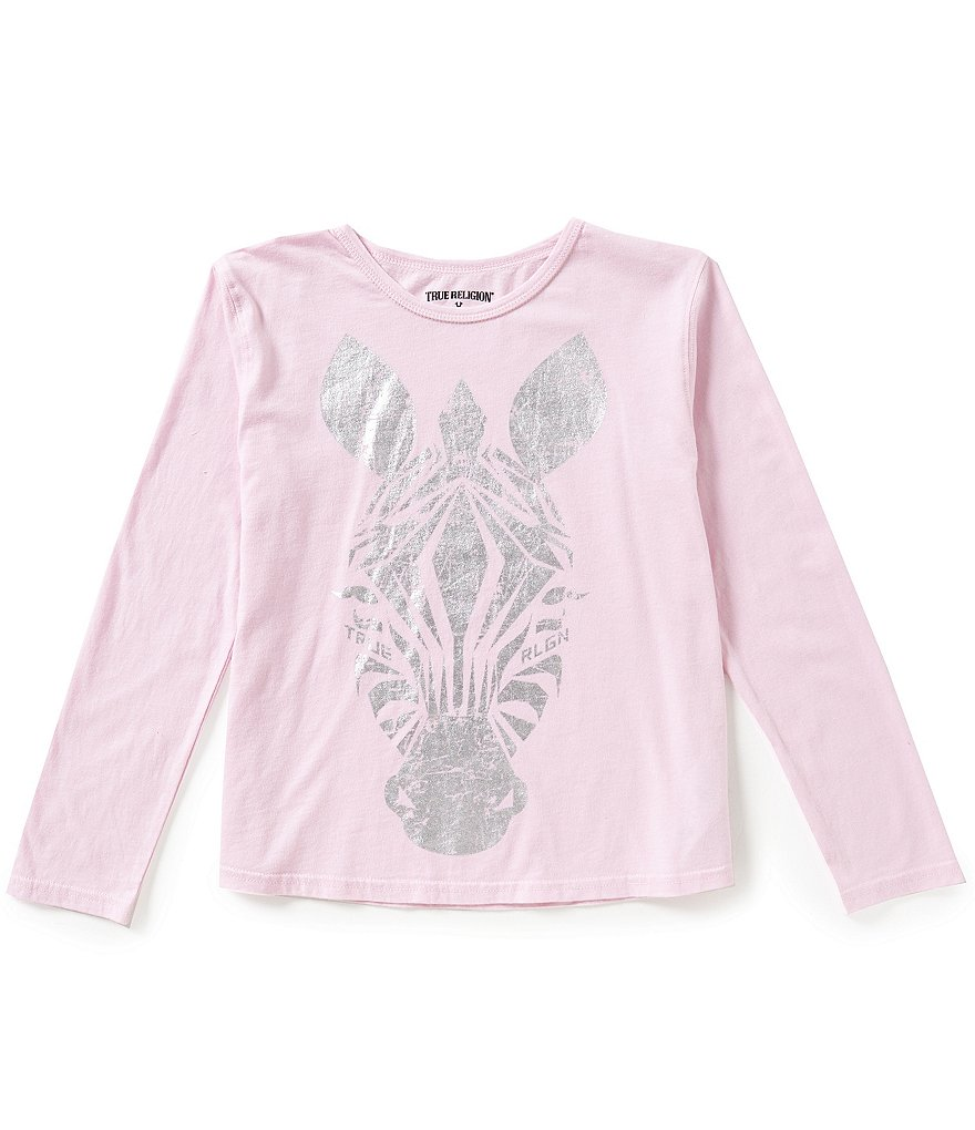 True Religion Big Girls 7-16 Zebra Graphic Long-Sleeve Tee