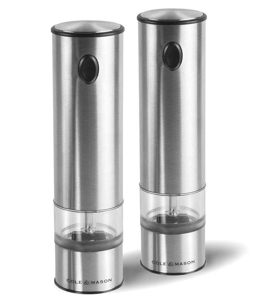 Cole & Mason Electronic Battersea One Touch Salt and Pepper Mill