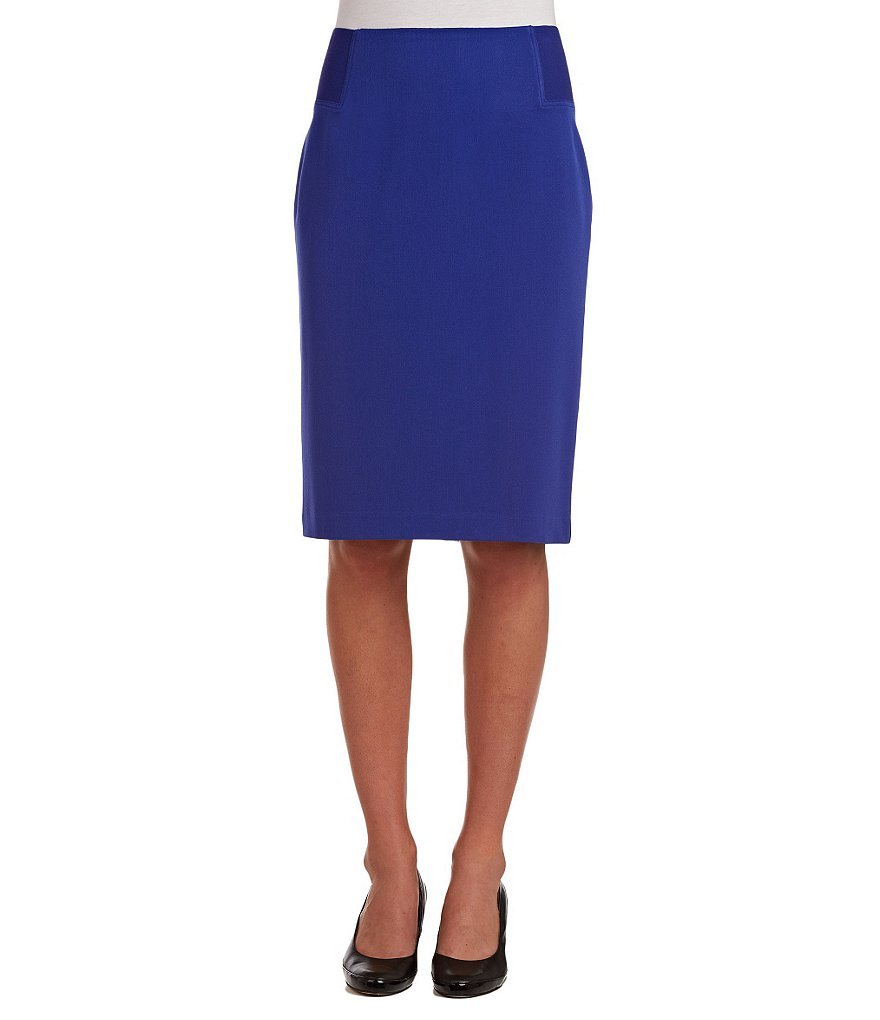 Allison Daley Pull-On Wide Elastic Pencil Skirt