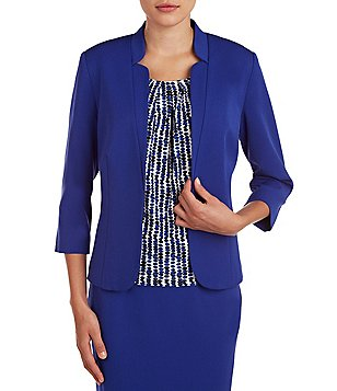 Allison Daley 3/4 Sleeve Open Front Jacket
