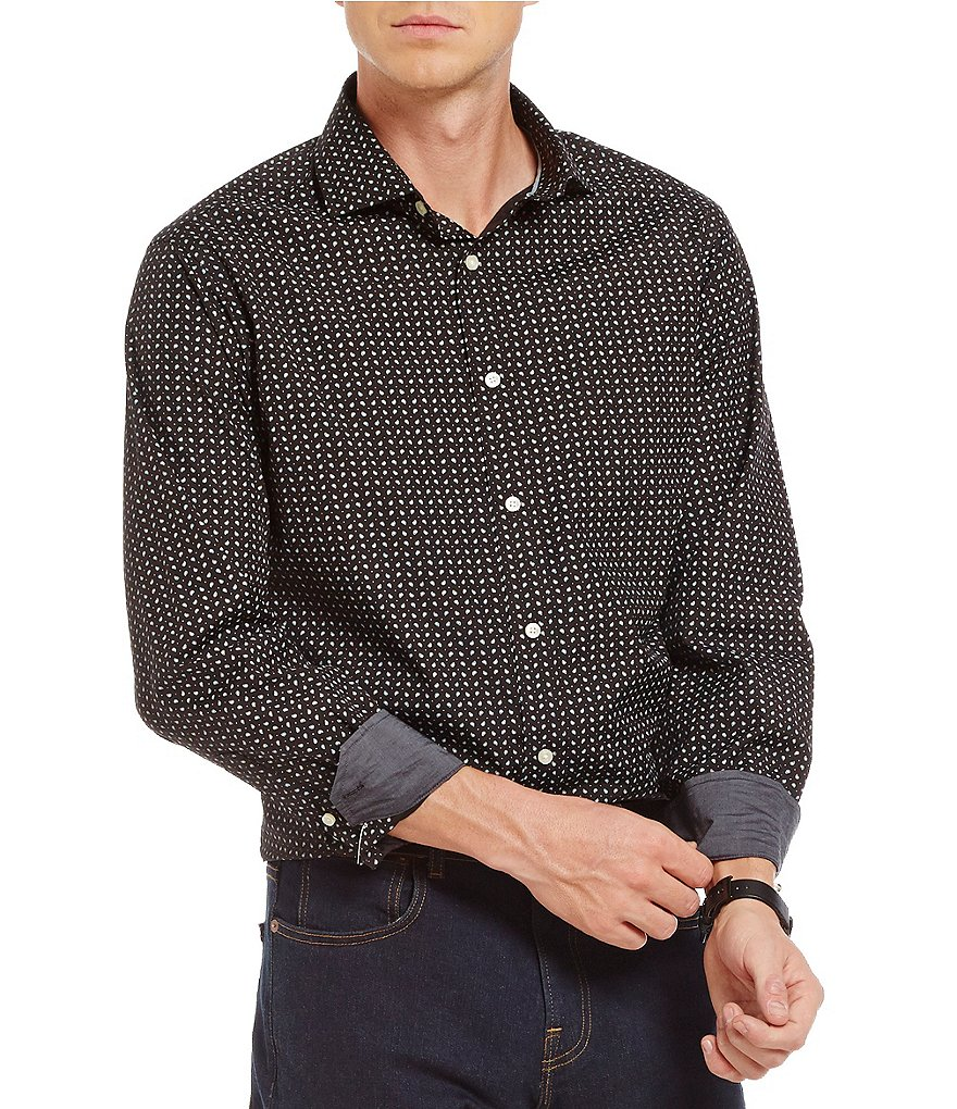 Cremieux Grandeur Nights Collection Long-Sleeve Paisley Woven Button-Front Shirt