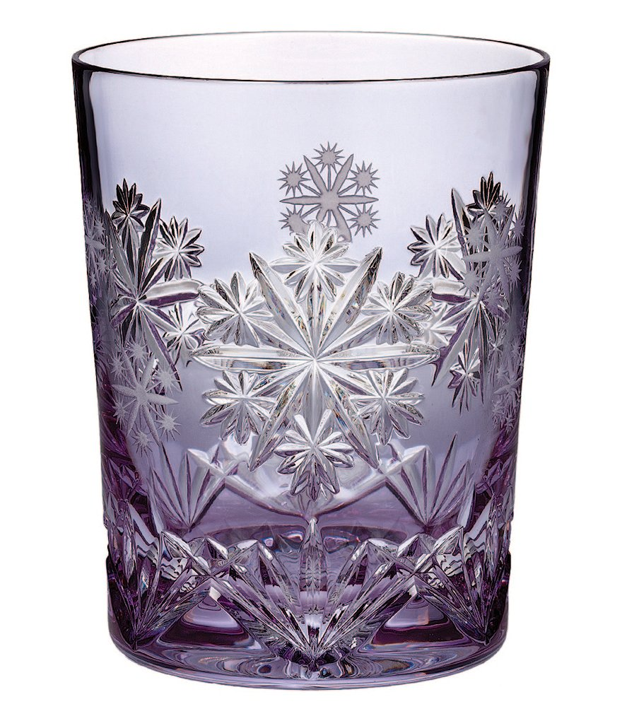 Waterford 2016 Snowflake Wishes Serenity Prestige 6th-Edition Lavender Double Old Fashioned Glass